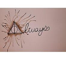 Deathly Hallows- Always Photographic Print