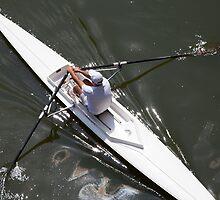 Sunday rowing by Geoffrey Fighiera