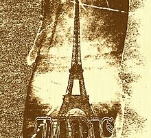 Vintage Paris Eiffel Tower 2 by Nhan Ngo