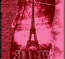 Vintage Paris Eiffel Tower 3 by Nhan Ngo