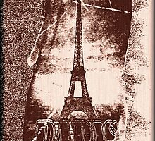 Vintage Paris Eiffel Tower 4 by Nhan Ngo