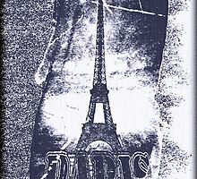 Vintage Paris Eiffel Tower 5 by Nhan Ngo