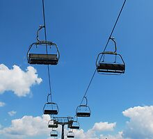 Ski Lift on Monte Zoncolan in Summer 1 by jojobob
