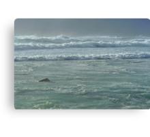 turbulent seas Canvas Print