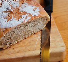 Sourdough on Chopping Board with Knife 5 by jojobob