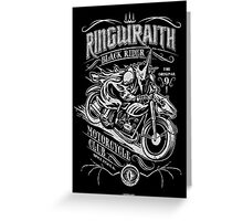 Black Rider Motorcycle Club Greeting Card