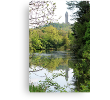 Reflection of the Wallace Monument  Canvas Print