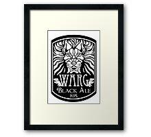 WARG Black Ale Label Framed Print