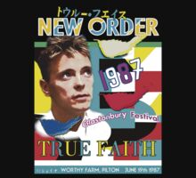 New Order Bernard Glastonbury 1987 True Faith shirt by Shaina Karasik