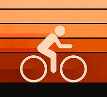 Biking Orange by Phil Perkins