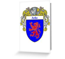 Aviles Coat of Arms/Family Crest Greeting Card