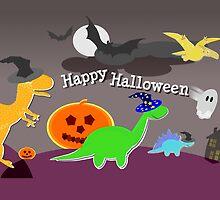 Happy Halloween Dinosaurs by cutecartoondino