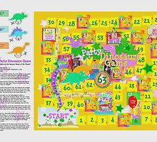 Dinosaur Party Game Board by cutecartoondino