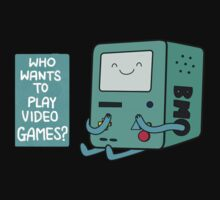 BMO (Adventure Time) - Who wants to play videogames? by rohankz
