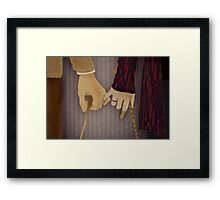 Tonks and Lupin Framed Print