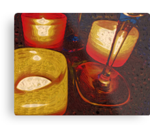 By Candle Lights Metal Print