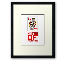 King of Hearts Framed Print