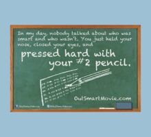 "Press Hard with Your #2 Pencil | from the short film ""Out Smart"" Kids Clothes"