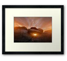 Balancing Sunset Framed Print