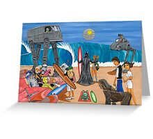 Surf Wars Greeting Card