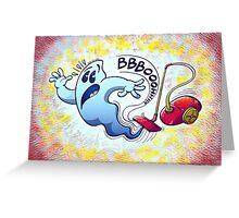 Ghost Vacuum Cleaner Nightmare Greeting Card
