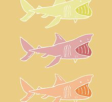 Basking Sharks Warm by nimbusnought