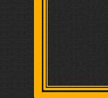 Yellow Curve Line ~Black~ by V-Art