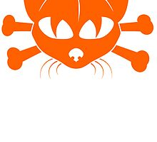 Orange Cat And Crossbones by kwg2200