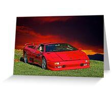 1998 Lamborghini Diablo VT Roadster Greeting Card