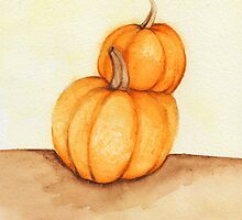 Stacked Fall Pumpkins by Katrina Larock