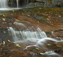 cascading water somersby falls by Troy Simcoe