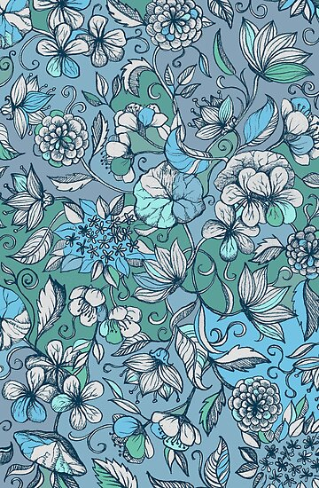 Her Garden in Blue by micklyn