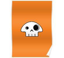 Mushroom Skull - small Poster