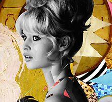 Golden Brigitte Bardot by Zabu Stewart by Zabu Stewart