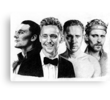 The Many Faces of Tom Hiddleston Canvas Print