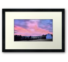 Day Turns To Night Framed Print