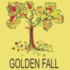 GOLDEN FALL TEE SHIRT/KIDS TEE/STICKER by Shoshonan