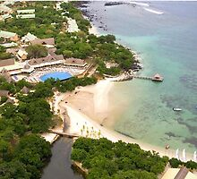 The Club Med resort in La Plantation d'Albion in Mauritius as seen from the sky.   by clubmedcom