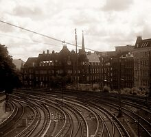 Industrial Lifeline historical railway photograph by VibrantDesigns
