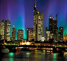 Northern Lights Hit Frankfurt (landscape) by BrianJoseph