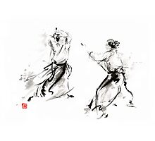 Aikido enso circle martial arts sumi-e original ink painting artwork Photographic Print