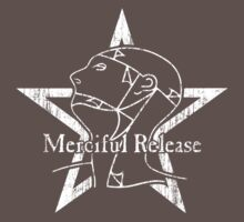 The Sisters Or Mercy - Merciful Release Logo (White on Black) Distressed by James Ferguson - Darkinc1
