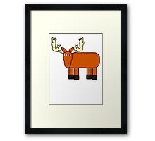 Cartoon Moose Framed Print