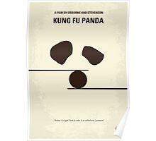 No227 My KUNG FU Panda minimal movie poster Poster