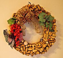Cork Wreath by tvlgoddess