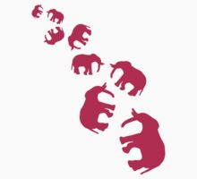 Pink Elephants Pattern by Style-O-Mat