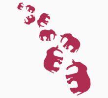 Pink Elephants Pattern by Style-O-Mat