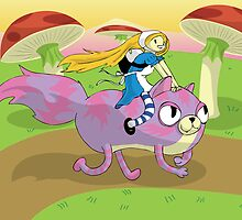Adventure Time! with Alice and Chesh by Hazedesign