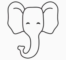 Cute Elephant Child Face by Style-O-Mat