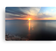 The Beaty of a Sunset Canvas Print